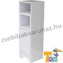 Bianco keskeny nyitott polcos + 1 ajtós szekrény