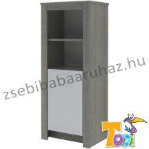 CUBE keskeny nyitott polcos + 1 ajtós szekrény