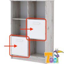Bee ajtók nyitott polcos szekrényhez (2 db)