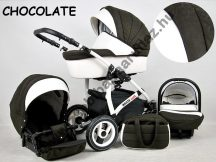 White Lux 3in1 babakocsi - Chocolate