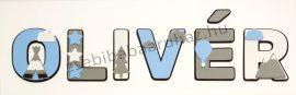Dekorbetű 15 cm - Indiánsátras, csillagos, ballonos dekor 2.  - 1400 Ft/betű