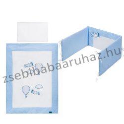 Prémium 5 részes babaágynemű szett - Repcsis - kék