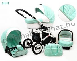White Lux 3in1 babakocsi - Mint