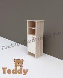 Todi Teddy keskeny nyitott polcos + 1 ajtós szekrény
